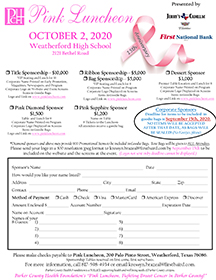 Pink Luncheon Sponsorship Form